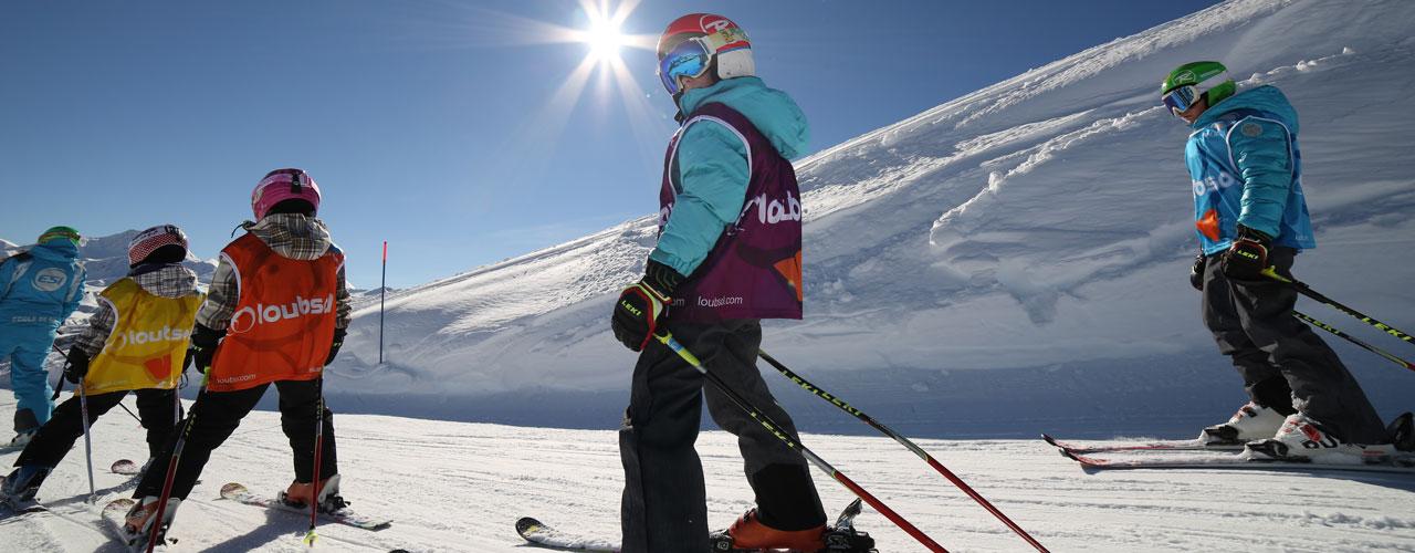 Les enfants à l'Ecole de Ski Buissonnnière