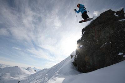 Ski freeride dans le domaine de Serre Chevalier