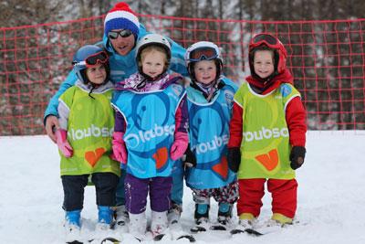 Jeunes skieurs de moins de 4 ans à Serre Chevalier